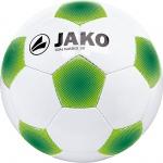 Jako ball goal classico 3 0 32 panel handgenaeht weiss apple sportgruen 1 2306